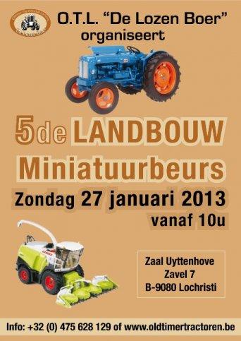 Landbouw miniatuurbeurs van O.T.L