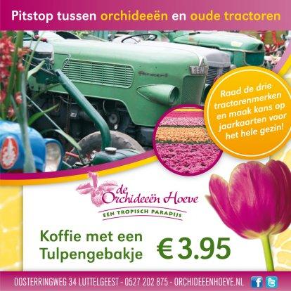 Porsche-tractoren tussen de Orchideeën!!